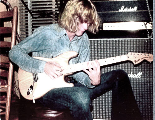 Randy age 22 with guitar and amp