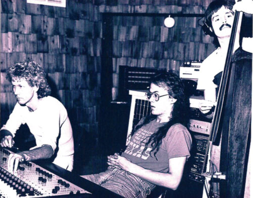 Randy and friends at the first location of Terminal Recording Studios