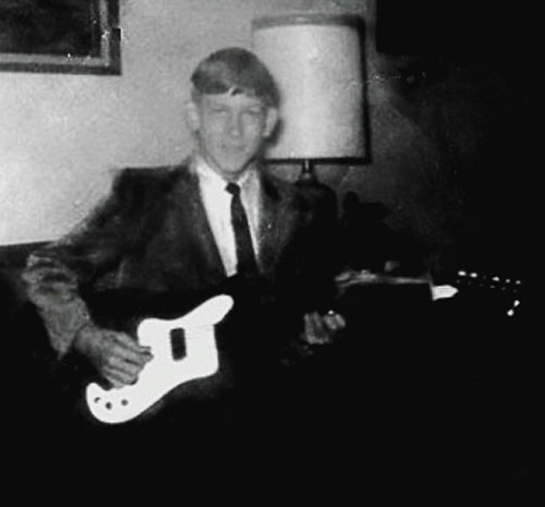 Randy age 14 with first guitar